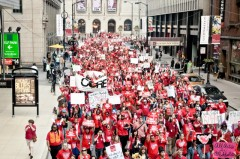 Protest organized by Chicago Teachers Union